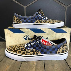 New W/ Box! Mens Van Doren Era Leopard Blue